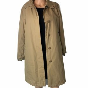 London Fog button up trench jacket-Khaki Sz SM